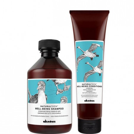 DAVINES NATURALTECH KIT WELLBEING SHAMPOO 250ML + CONDITIONER 150ML