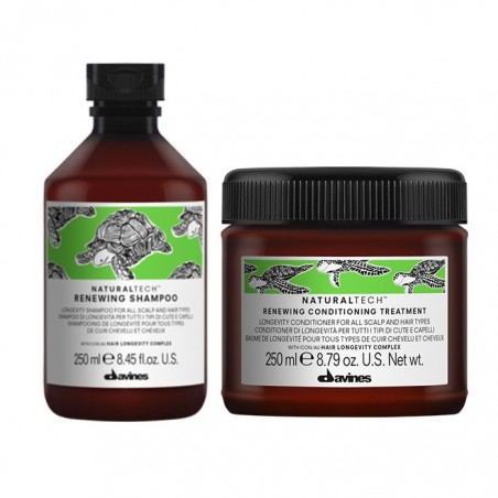 DAVINES NATURALTECH KIT RENEWING SHAMPOO 250ML+ CONDITIONER 250ML