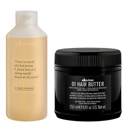 DAVINES KIT OI BUTTER 250ML+A SINGLE SHAMPOO 250ML