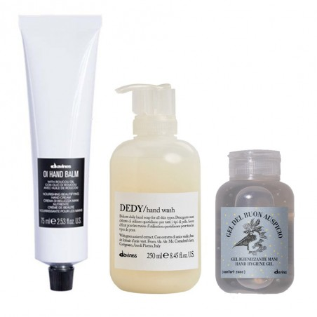 DAVINES KIT DEL BUON AUSPICIO OI HAND BALM 75ML+DEDY HAND WASH 250ML+GEL DEL BUON AUSPICIO 75ML