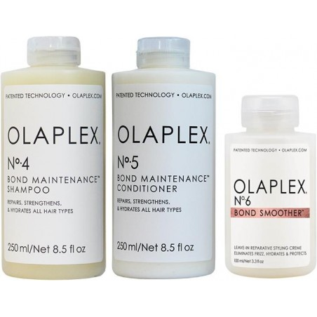 OLAPLEX SHAMPOO 250ML+CONDITIONER 250ML+SMOOTHER 100ML