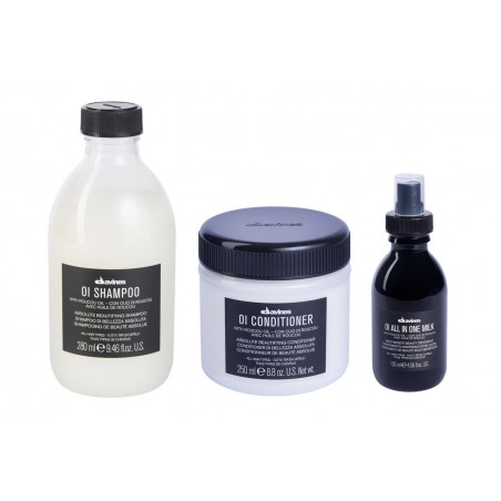 DAVINES OI KIT SHAMPOO 280ML + CONDITIONER 250ML + ALL IN ONE MILK 135ML