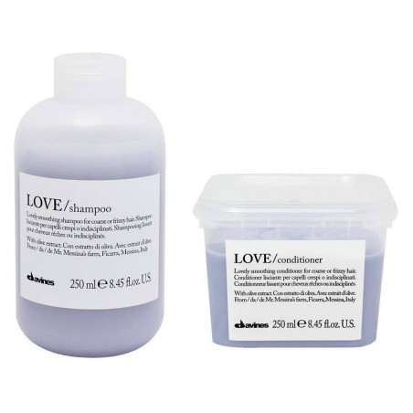 DAVINES ESSENTIAL HAIRCARE KIT LOVE SMOOTH SHAMPOO 250ML + CONDITIONER 250ML